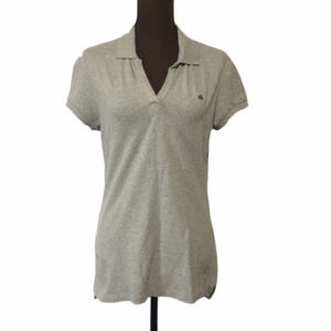 Women's Calvin Klein Gray Polo Shirt